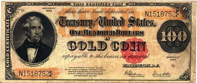 Certificato aureo dell'epoca del rapimento