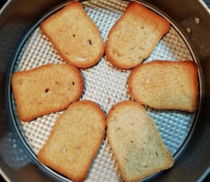 Preparazione Ricetta salata con Fette biscottate