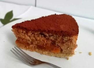 Torta di noci e albicocche secche energetica senza lievito