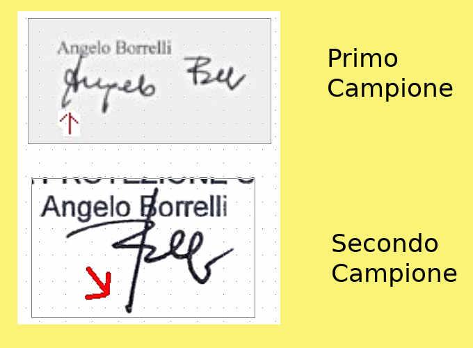 Campioni dell'analisi grafologica della scrittura di Angelo Borrelli