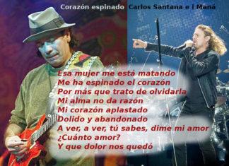 Corazón espinado cantata da Carlos Santana e i Maná