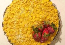 Crostata Mimosa crema di Ricotta e fragole