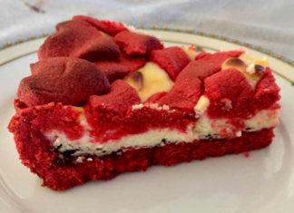 Crostata Red Velvet con Ricotta e Mascarpone Senza Glutine