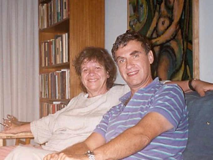 Esther Zimmer Lederberg e il marito Mattew Simon