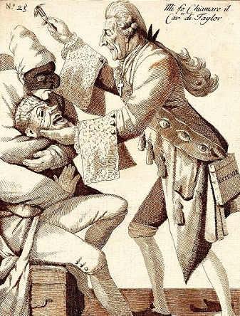 John Taylor caricature 1770
