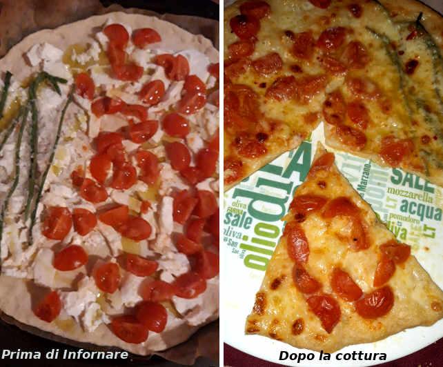 Preparazione della Pizza Semi Integrale Fatta in casa Tricolore 5