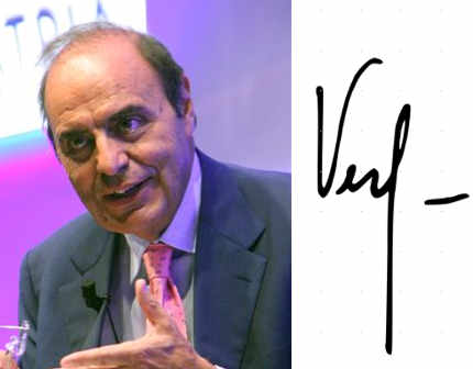 La firma di Bruno Vespa (cognome)