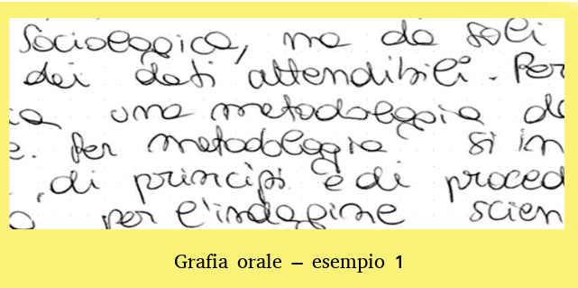 La scrittura durante e dopo il Covid19: Grafia orale 1
