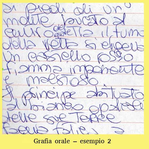 La scrittura durante e dopo il Covid19: Grafia orale 2