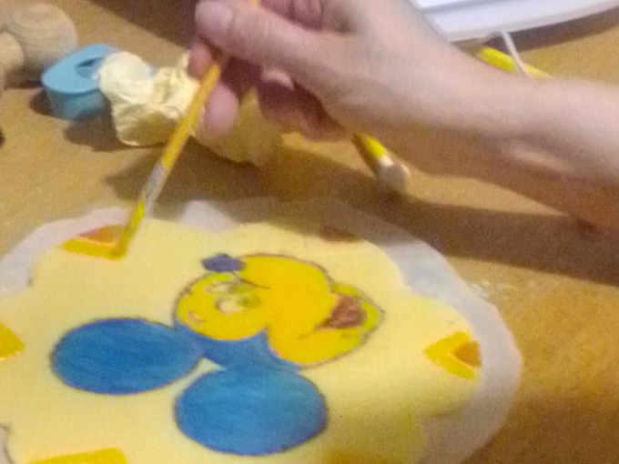 Disegno per Crostata artisticaTopolino con ganache al cioccolato bianco e fragole senza glutine