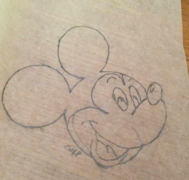 Crostata artistica: il disegno di Topolino