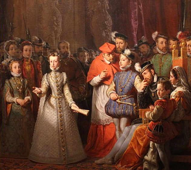 L'Éducation de Marie Stuart à la cour de François II di Gillot Saint-Evre (1791–1858)
