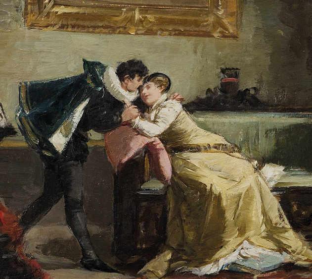 Davide Rizzio e Maria Stuarda di Amos Cassioli