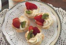 30 Cestini di frutta senza glutine con crema diplomatica di bianca frolla