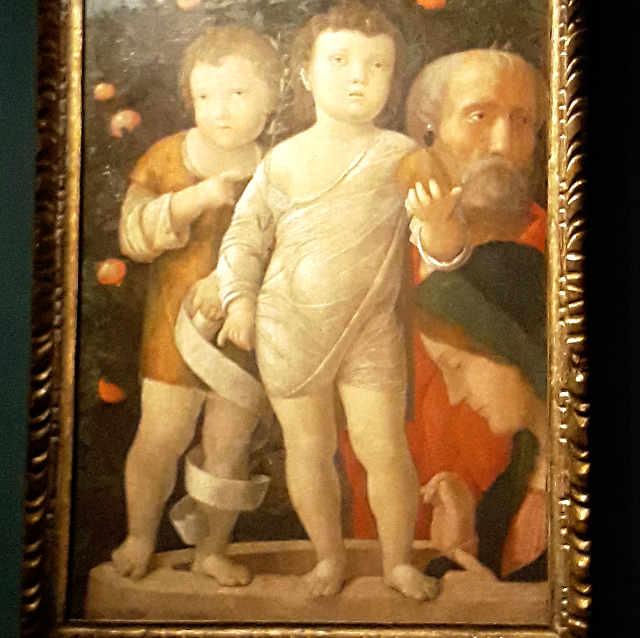 La Sacra Famiglia con San Giovannino nella Mostra con opere di Andrea Mantegna