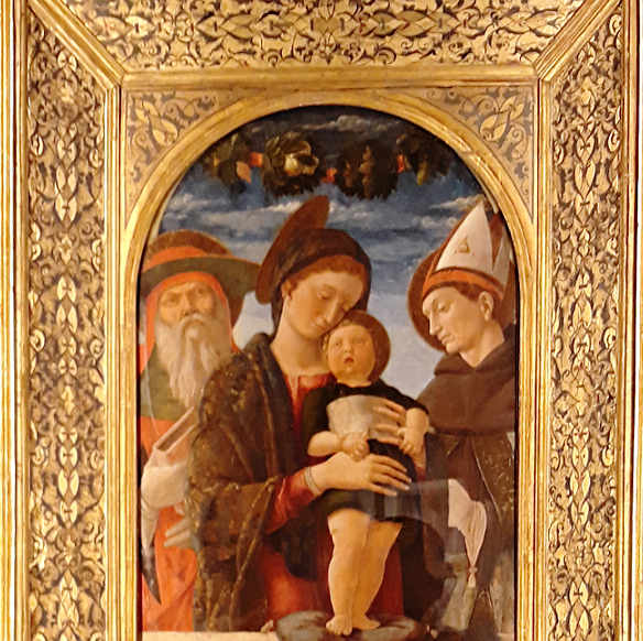 Madonna col Bambino e San Gerolamo e Ludovico di Tolosa di Mantegna