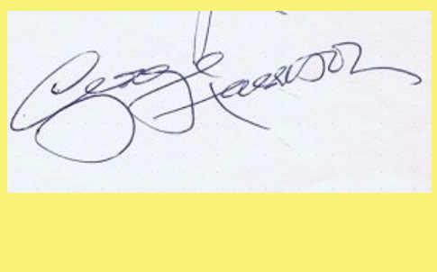 L'Autografo di George Harrison