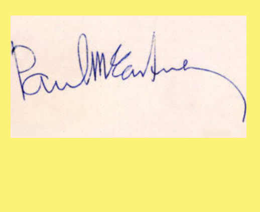 firme dei Beatles L'Autografo di Paul McCartney