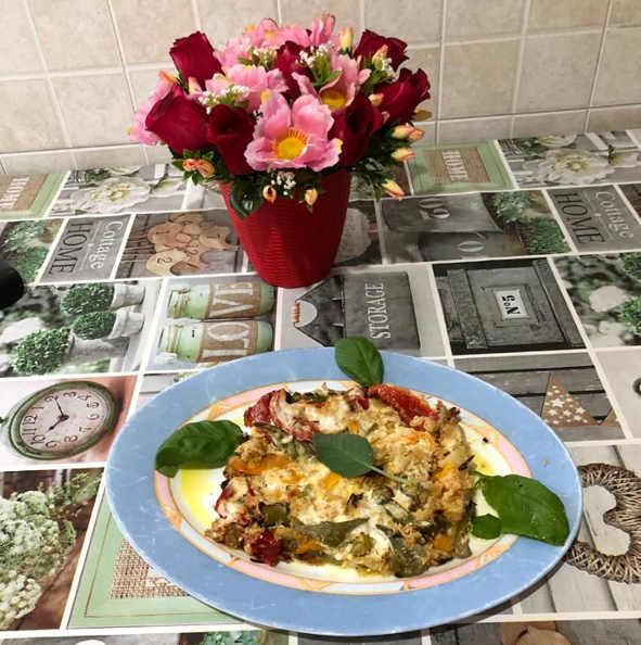 Preparazione dei  Peperoni cotti in forno gratinati 2