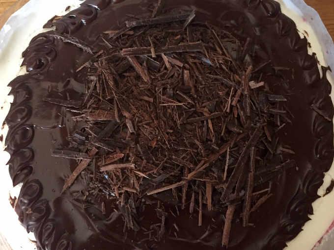 Cioccolato torta foresta nera con 3 creme senza glutine e senza lievito