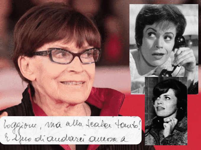 Il carattere dalla scrittura grafia di Franca Valeri