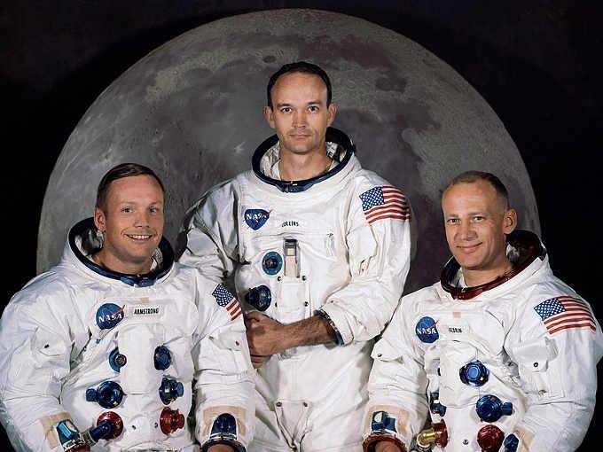 Gli Astronauti dell'Apollo 11 Neil A. Armstrong, Michael Collins e Edwin E. Aldrin Jr