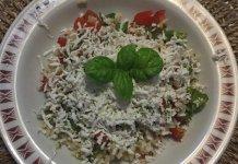 Riso alla crudaiola con ricotta salata