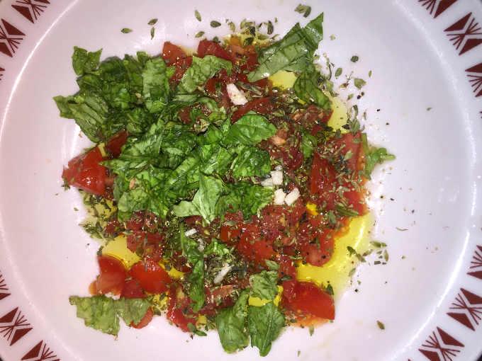 ingredienti Riso alla crudaiola con ricotta salata