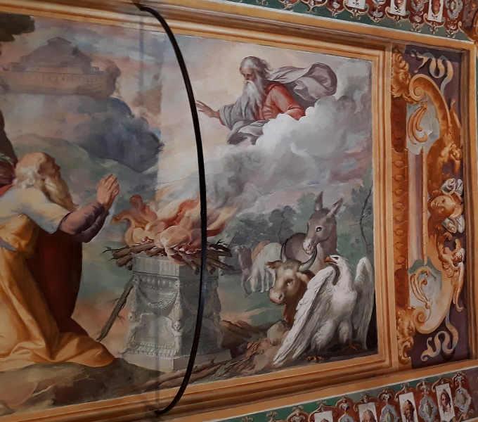 Interno Villa d'Este a Tivoli Quadri e affreschi 4