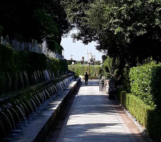 Le cento fontane nel giardino di Villa d'Este