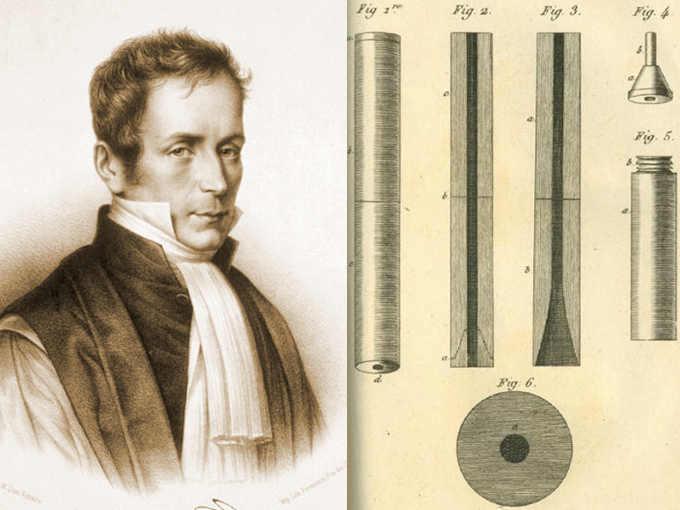 René Laënnec inventore dello stetoscopio (Quimper, 17 febbraio 1781 – Douarnenez, 13 agosto 1826)