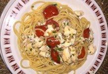 Spaghetti con orata sfilettata e pomodorini