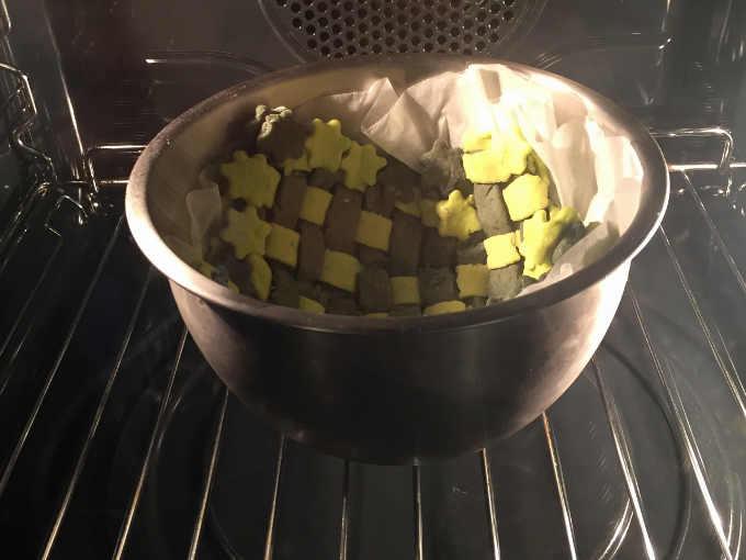 cestino intrecciato di frolla salata in forno