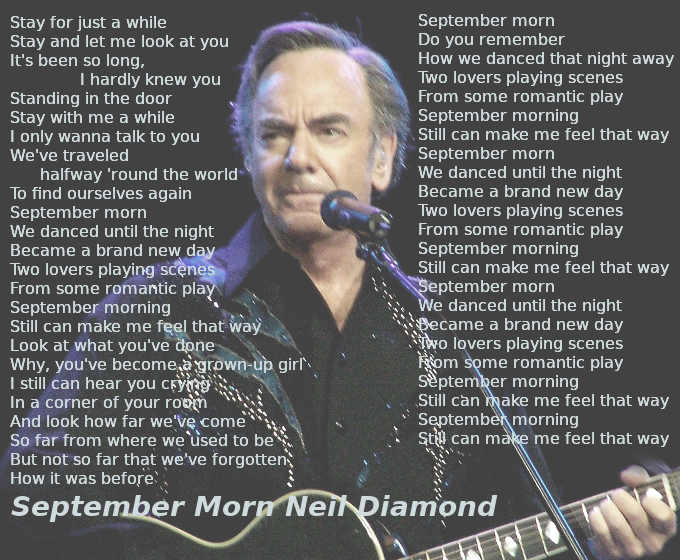 Testo di September Morn di Neil Diamond