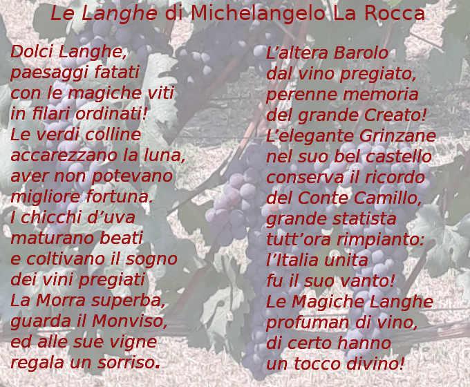 Le Langhe poesia di Michelangelo La Rocca