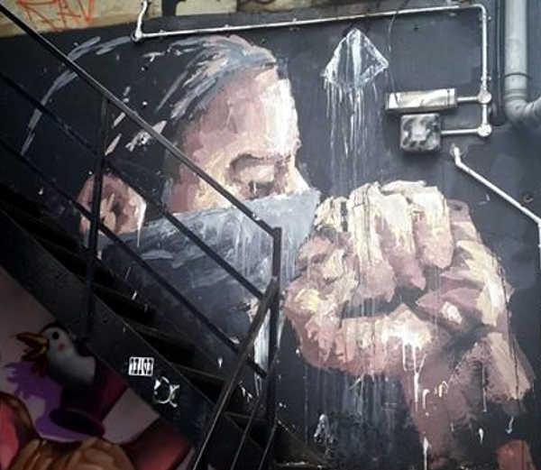 Murales dell'artista (street artist) argentino Alaniz