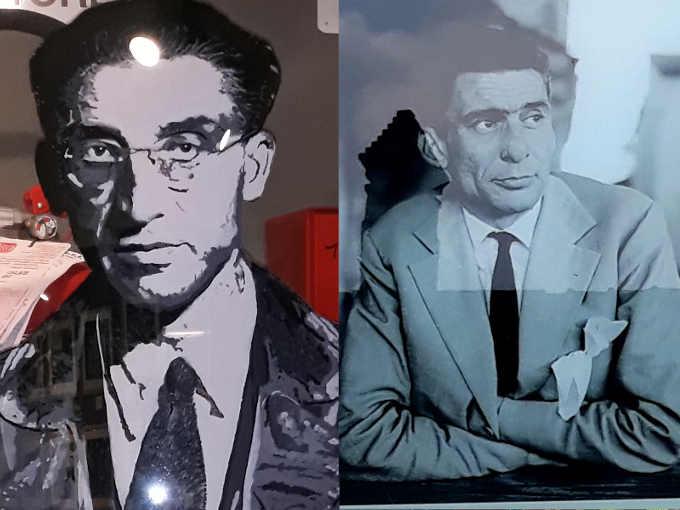 Gli scrittori delle Langhe: Cesare Pavese e Beppe Fenoglio.