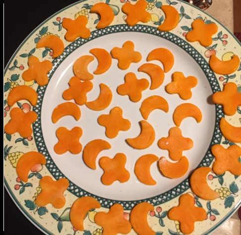 Decorazioni per la Crostata intreccio Halloween senza Glutine con Nutella