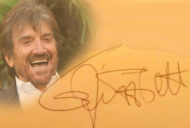 La firma di Gigi Proietti