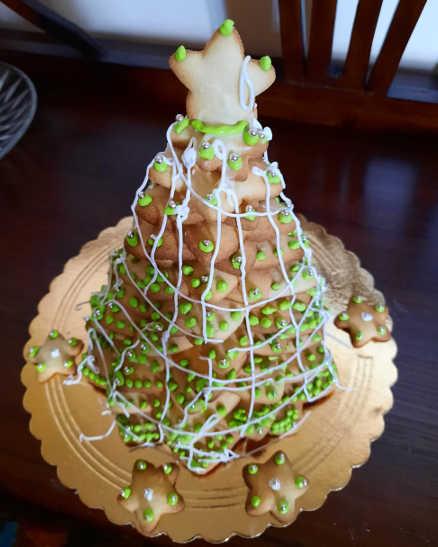 2 Albero di Natale in pasta frolla senza glutine