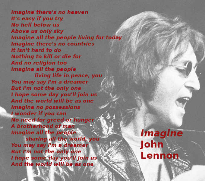 Testo di Imagine di John Lennon