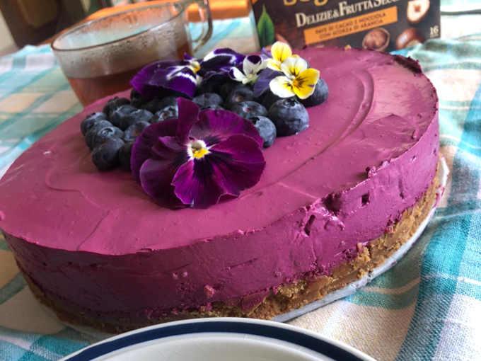 2Cheesecake con confettura frutti di bosco buonissima