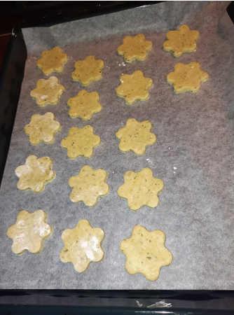 Preparazione biscotti al pesto senza glutine