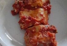Girelle di pasta fresca senza glutine ricotta bocconcini di mozzarella con la panna e granella di pistacchi