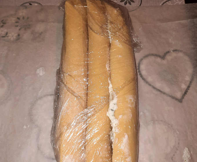 Sfoglie con ripieno senza glutine da far riposare in frigo
