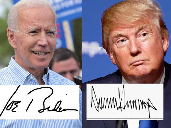 le firme di Joe Biden e Donald Trump
