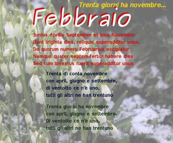 Perché febbraio ha meno giorni degli altri mesi