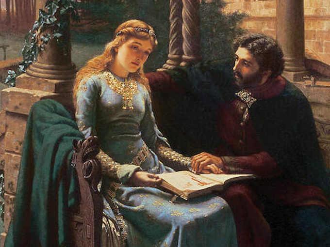 Pietro Abelardo ed Eloisa (Pierre Abélard et son élève Héloïse -1882 di Edmund Blair Leighton)