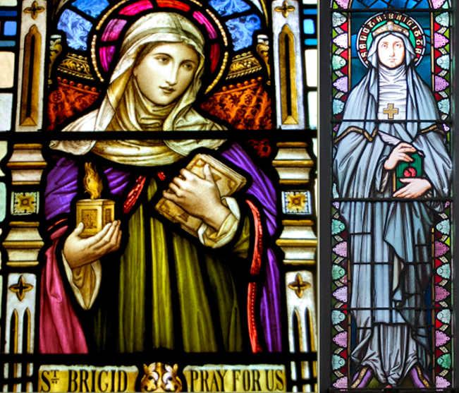 Le immagini di Bríd di Cill Dara, santa Brigida Kildare