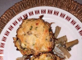 Carciofi ripieni con formaggio olive e pane senza glutine